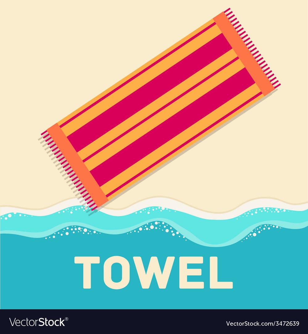 Retro flat towel concept design vector