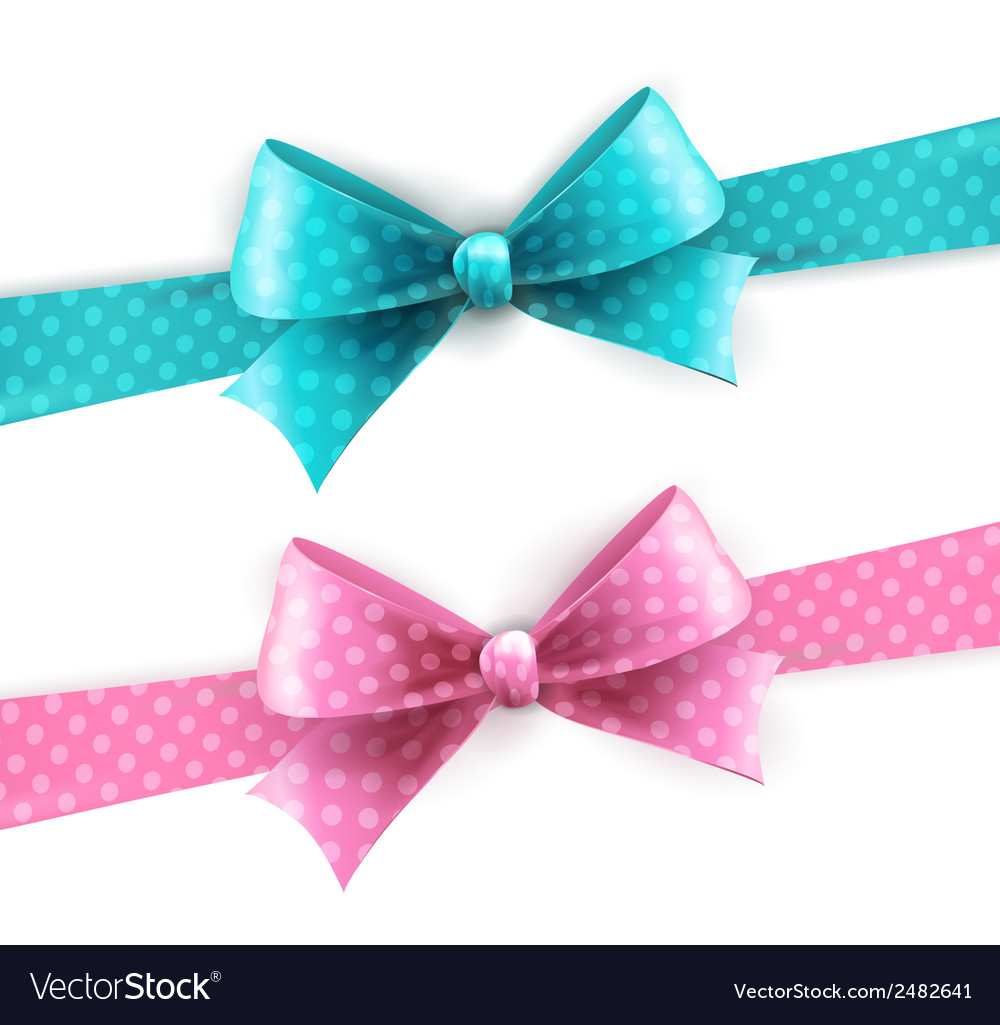 Isolated polka dots bow for greeting card vector