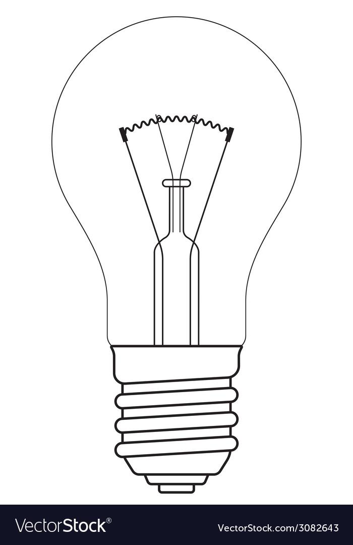 Contour lamp vector