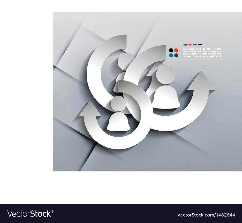Person paper 3d design vector
