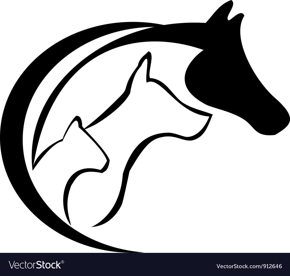 Cat horse and dog vector