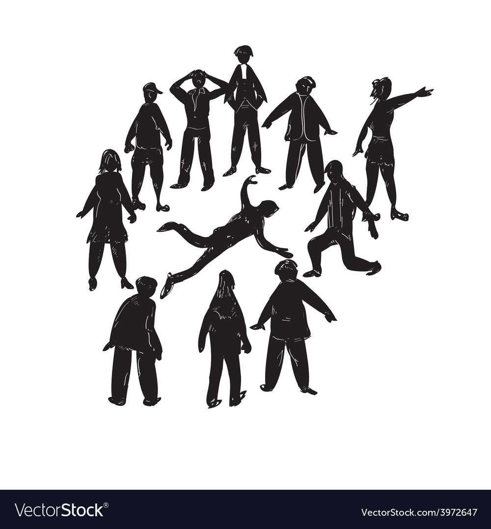Death in a crowd vector