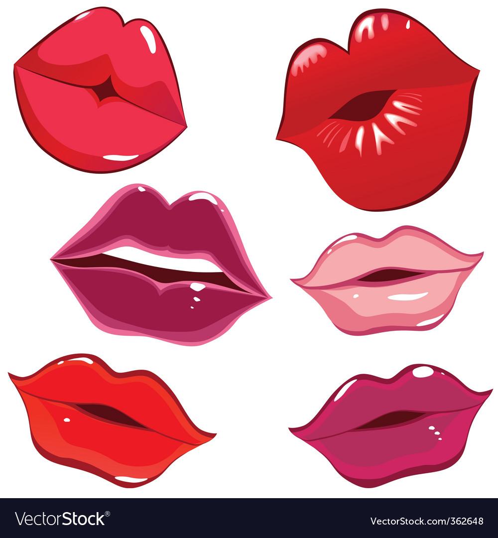 Lips and kiss vector