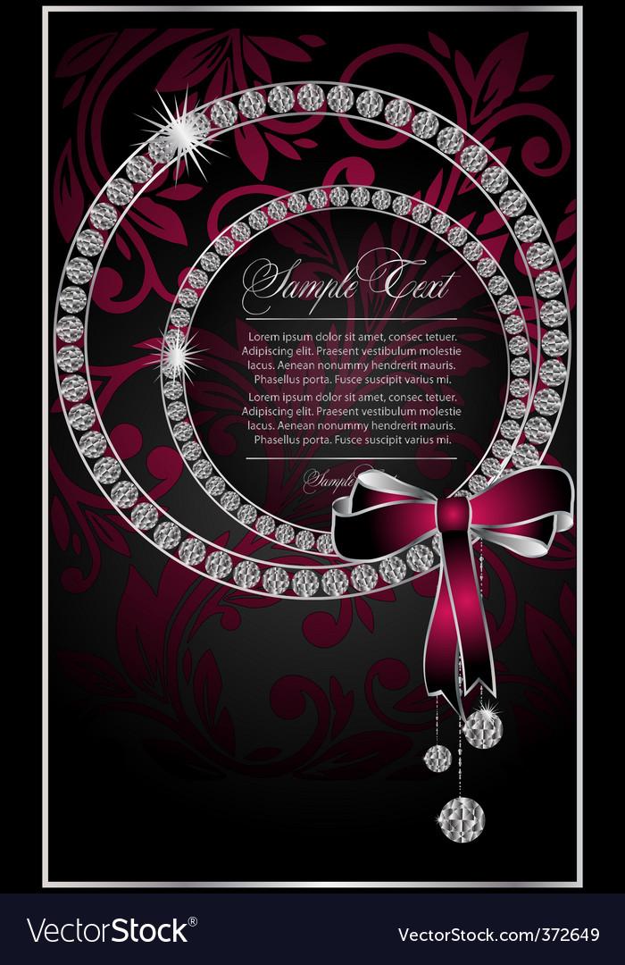 Diamond poster vector