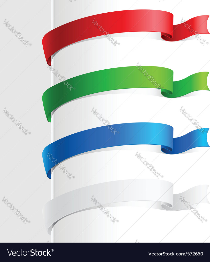 Colorful abstract ribbon vector