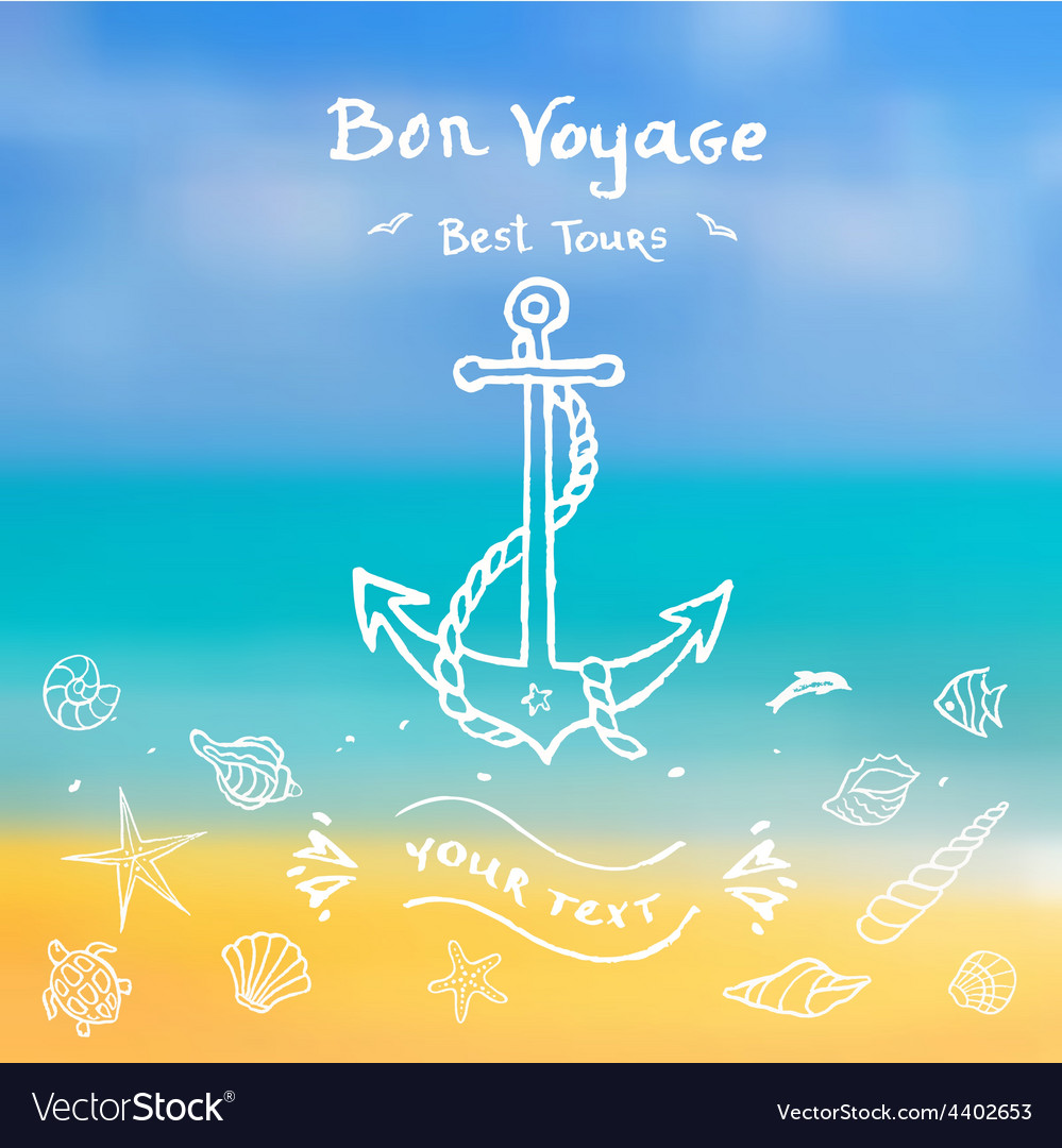 Voyage for your design vector