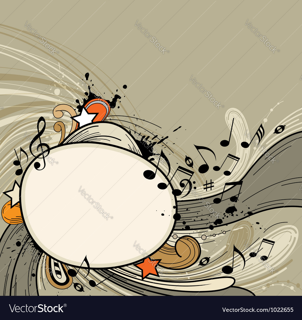 Abstract music retro vector