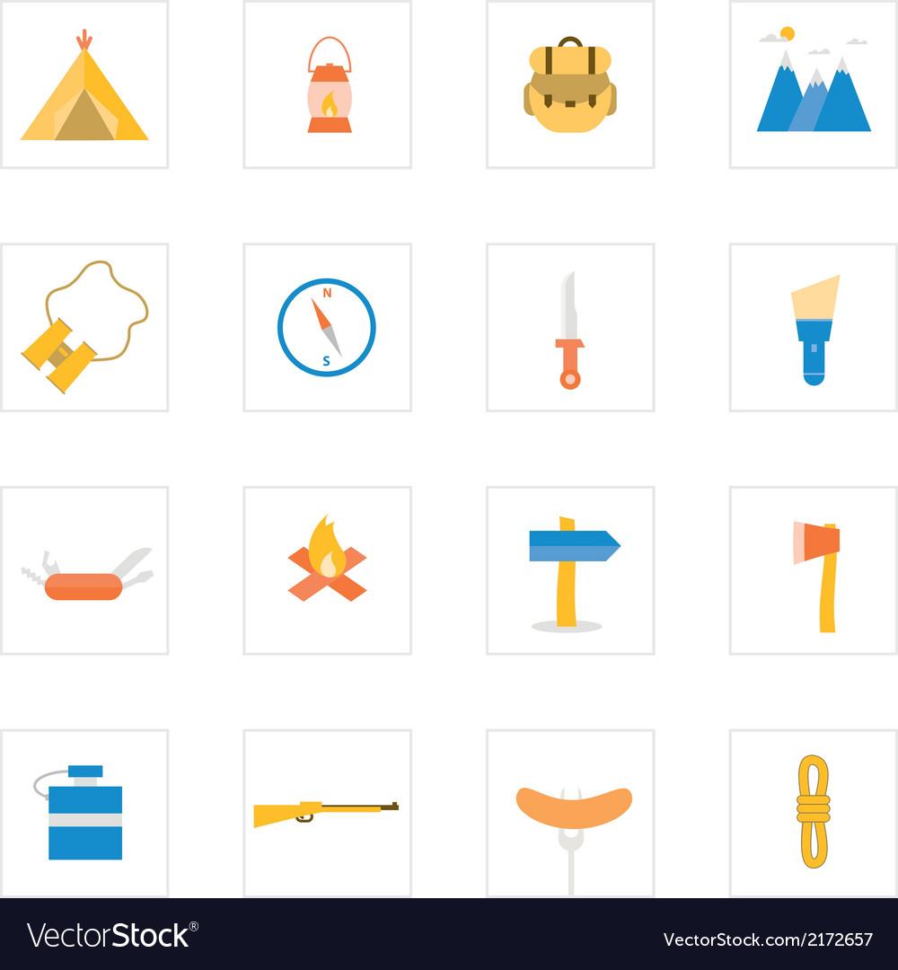 Icon camping vector