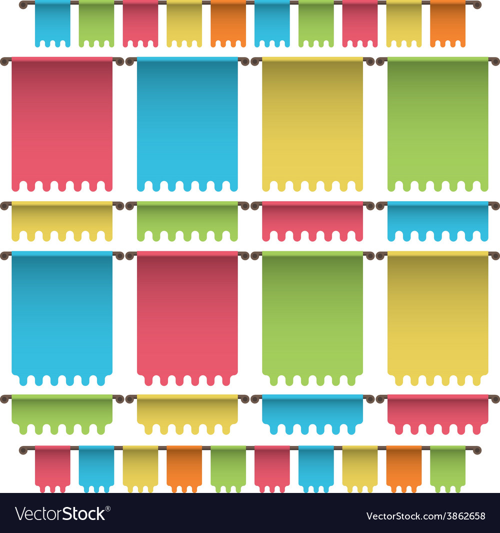 Bunting banners vector