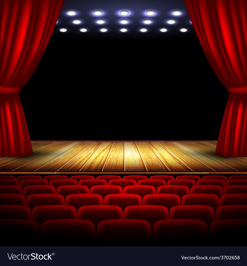 Old stage design vector