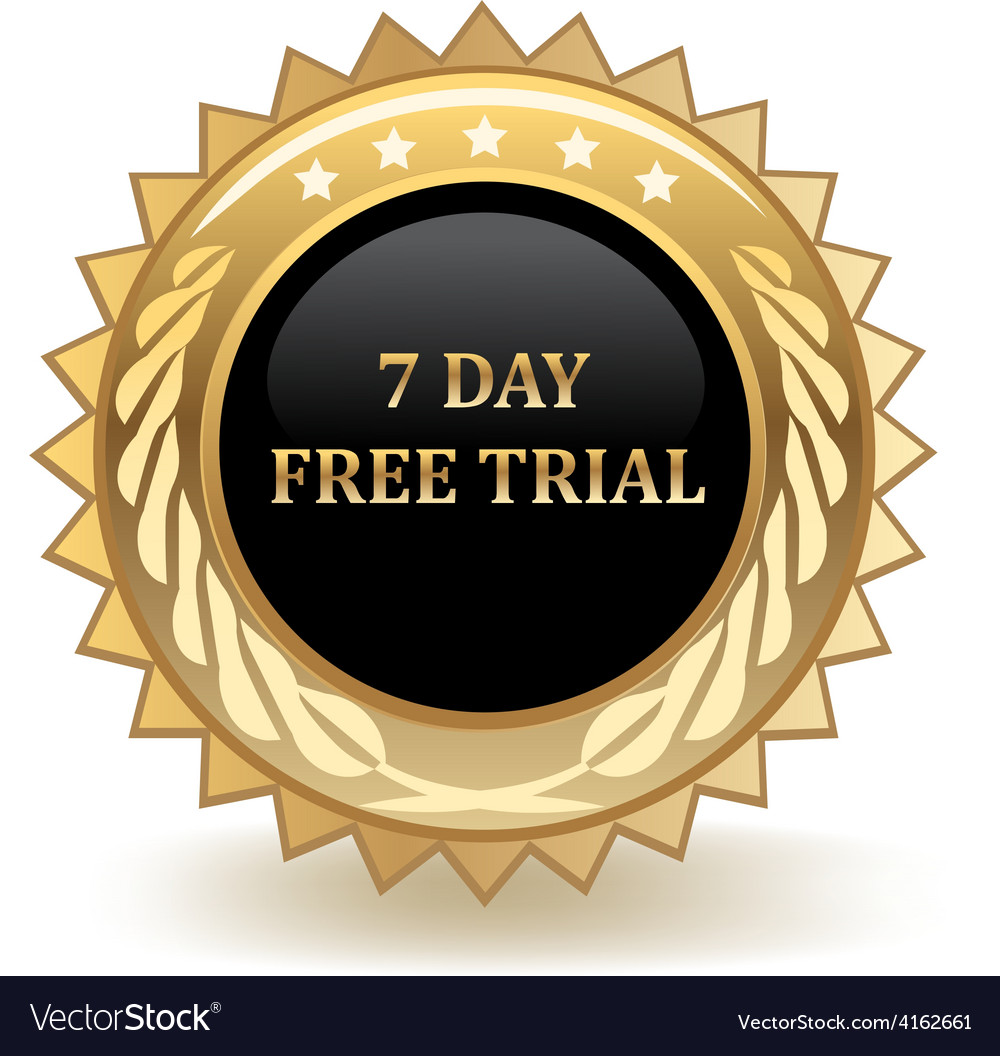 Seven day free trial vector