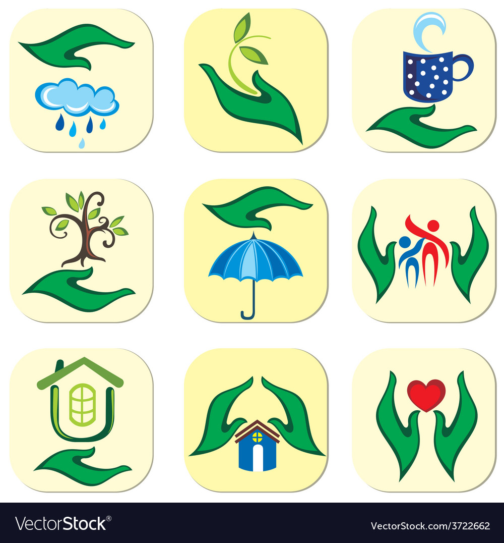 Ecological symbols vector