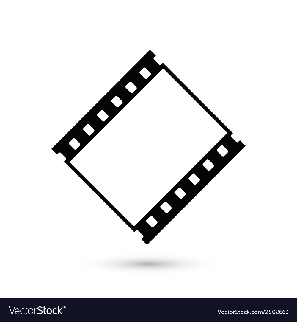 Blank film strip icon isolated on white background vector
