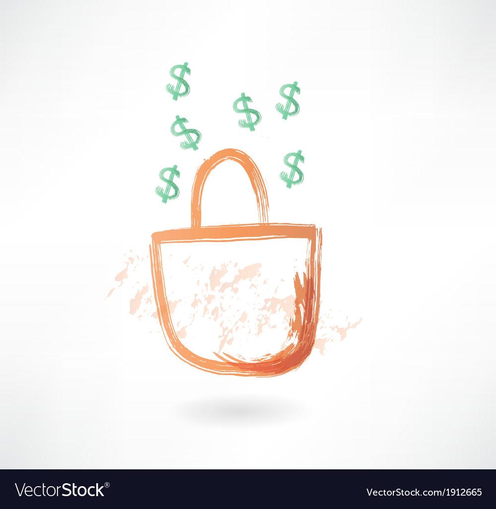 Earnings grunge icon vector