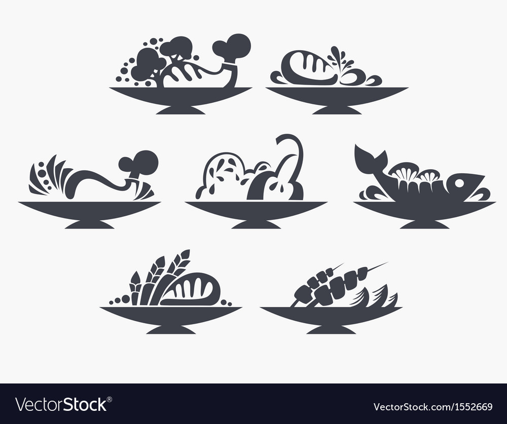 Different food vector