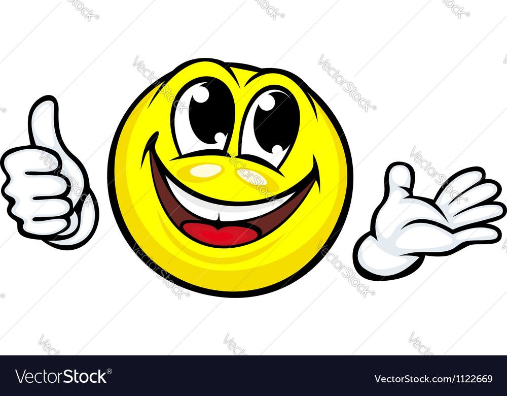 Funny cartoon smile vector