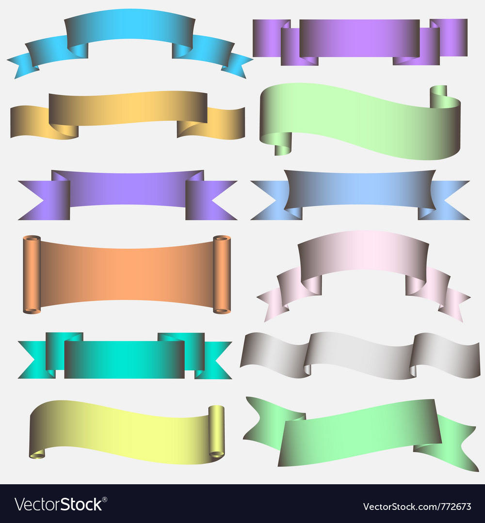 Banner ribbon scroll vector