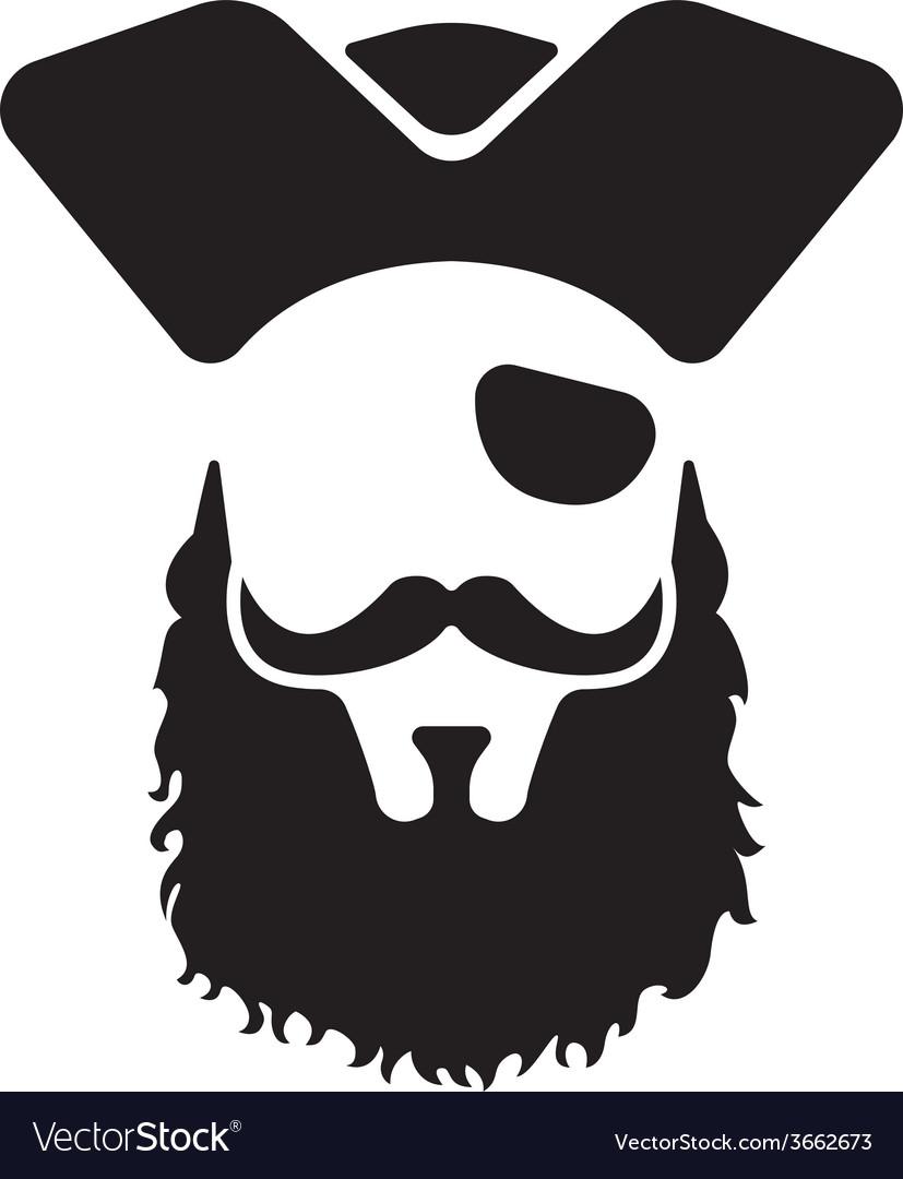 Pirate mascot head vector
