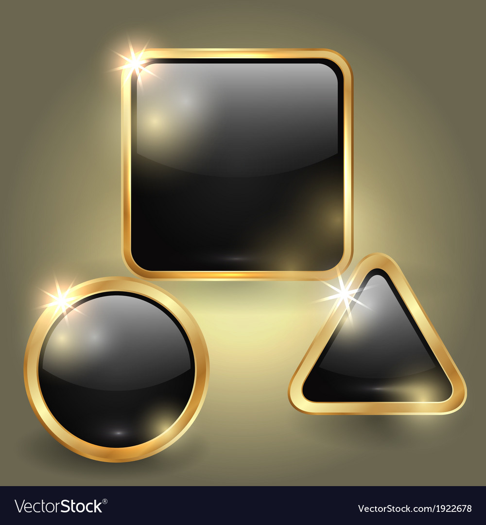 Set of glass button templates vector