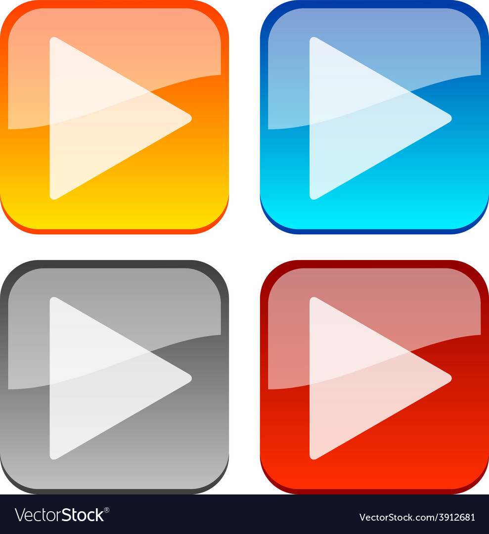 Play buttons vector