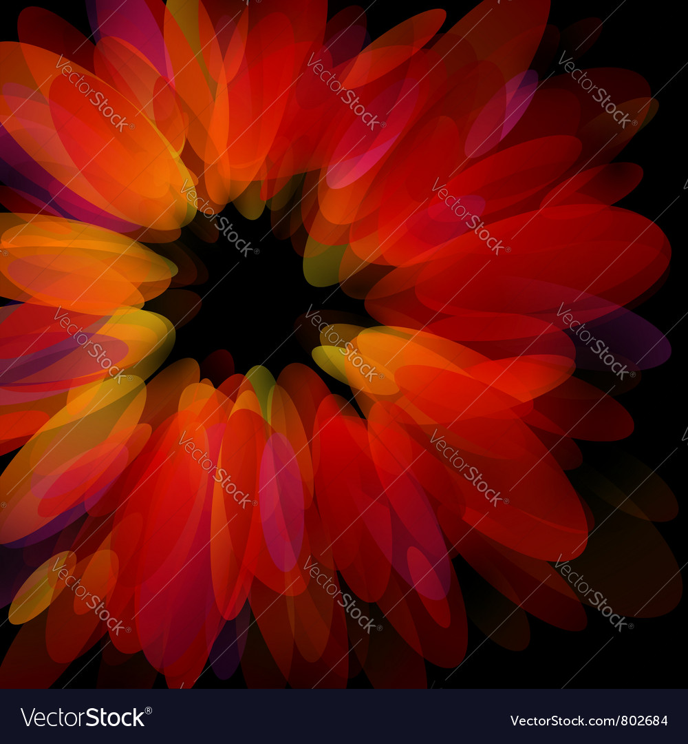 Abstract red petals - stylish design vector