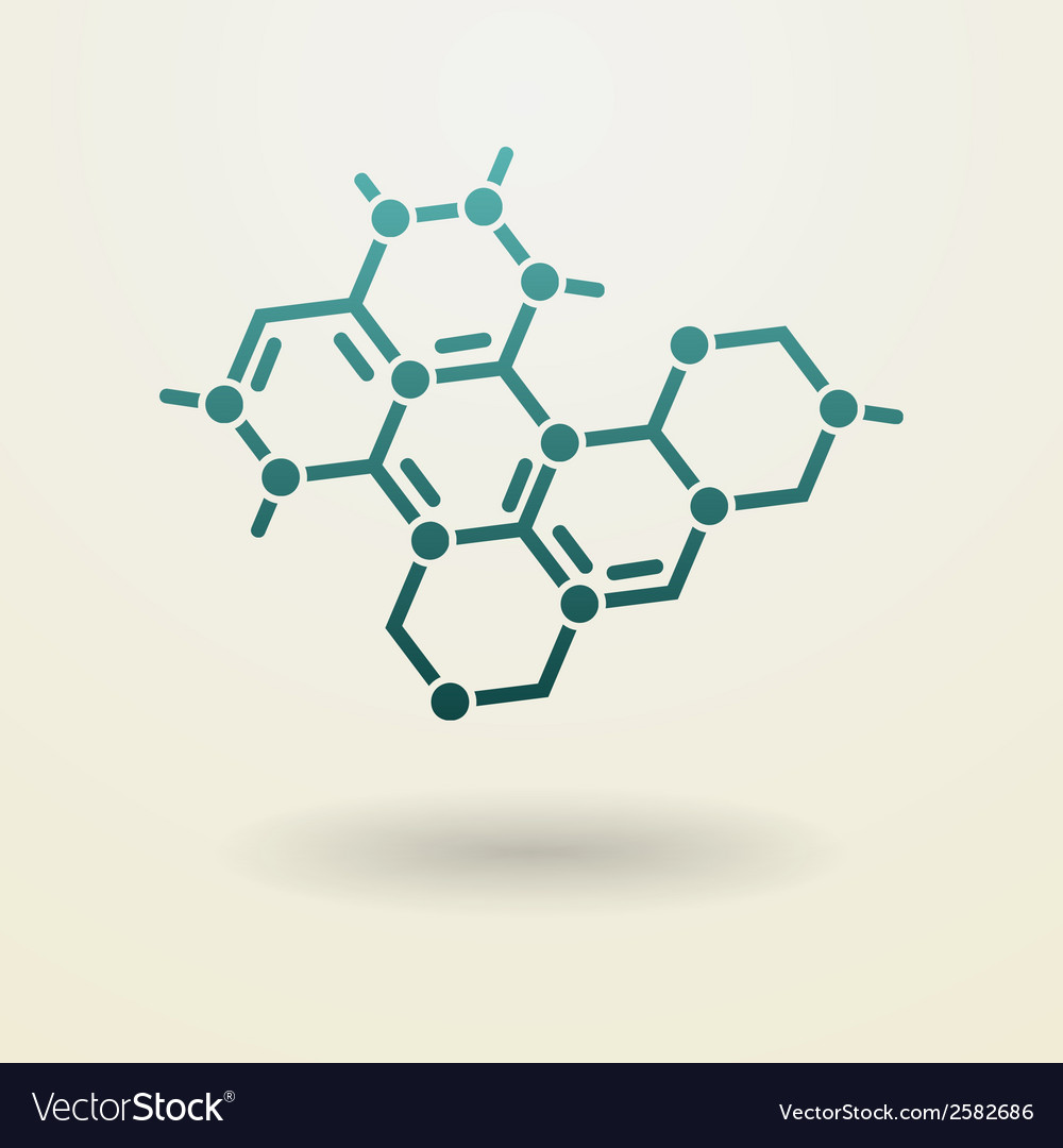Simple molecule icon vector