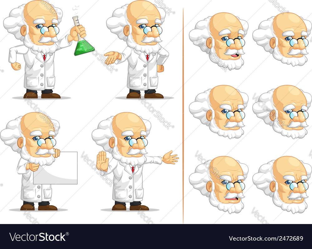 Scientist or professor customizable mascot 10 vector