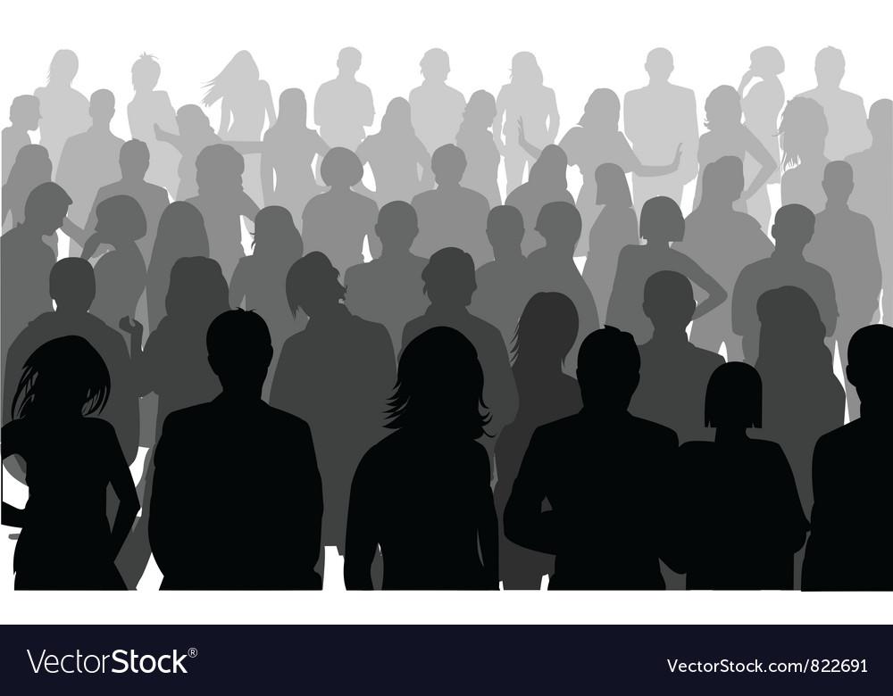 Silhouette person vector