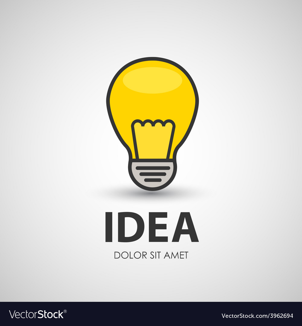 Electric bulb lighting device vector