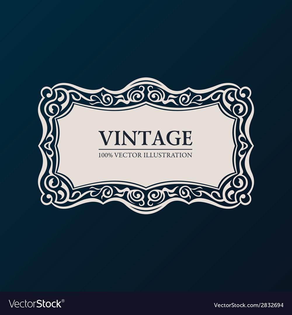Label framework vintage banner decor vector