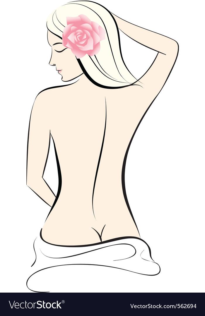 Woman body vector