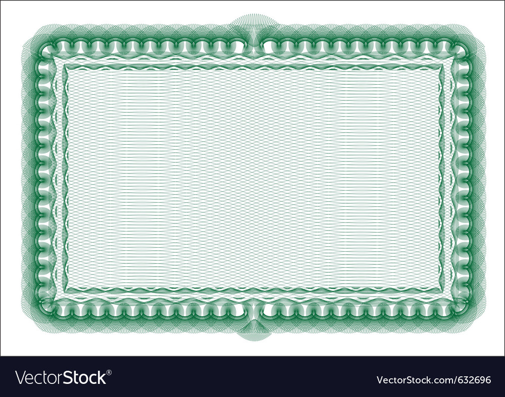 Secure background - blank certificate vector