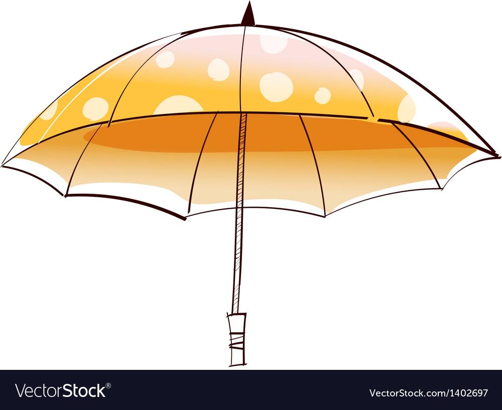 A view of umbrella vector