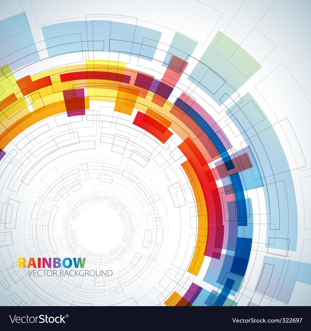 Circle rainbow background vector