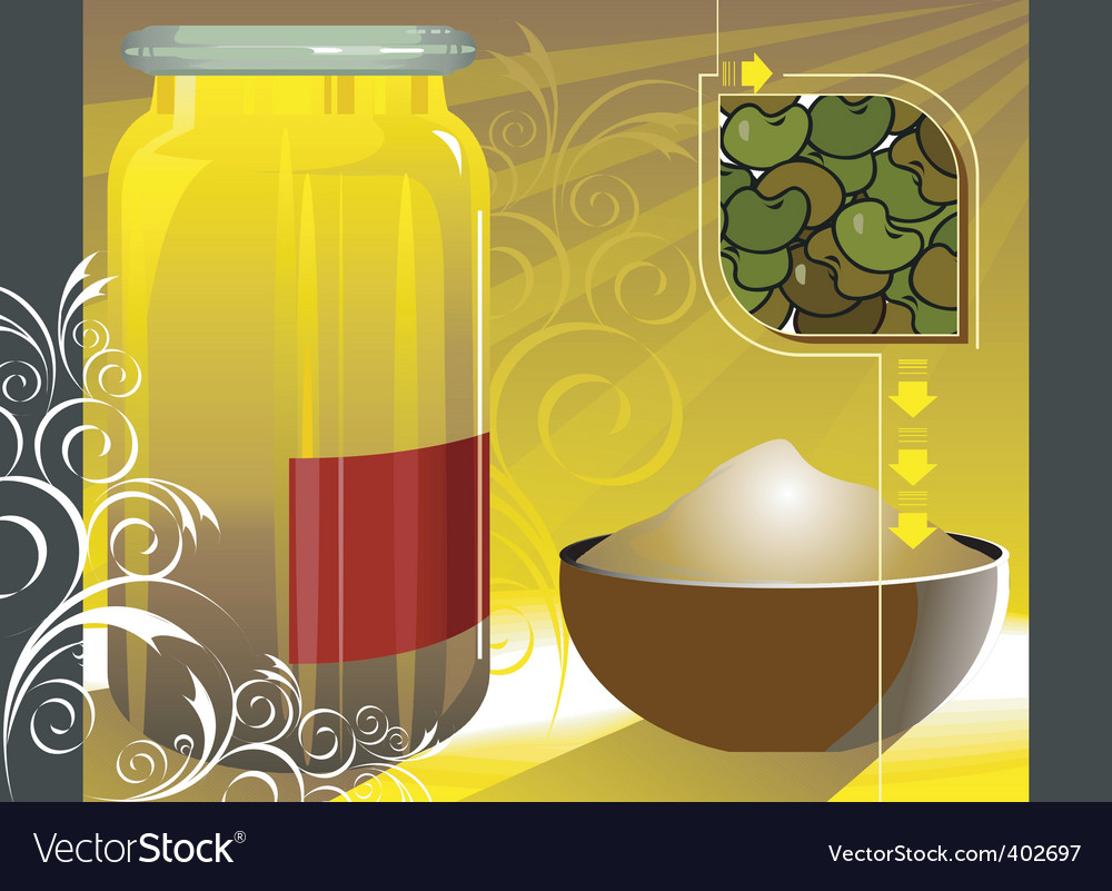 Grain and cereal product vector