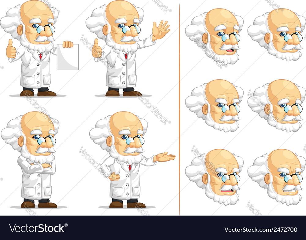 Scientist or professor customizable mascot 13 vector
