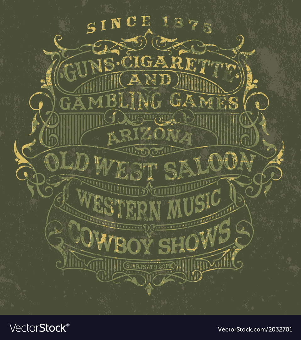 Old west style poster vector