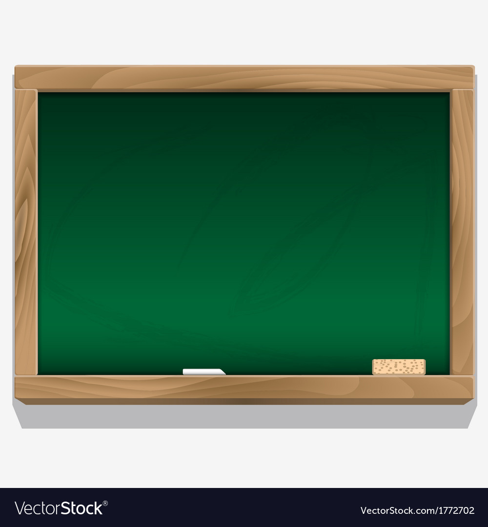 Class board with chalk vector