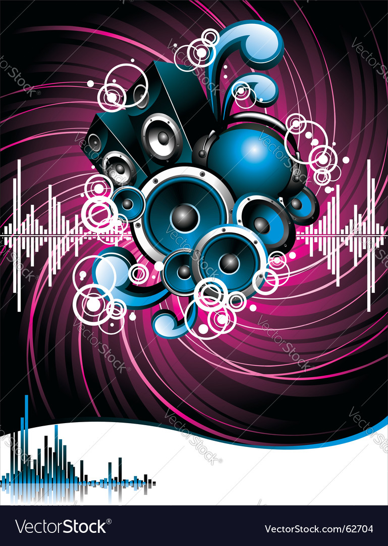 Illustration for a musical theme vector