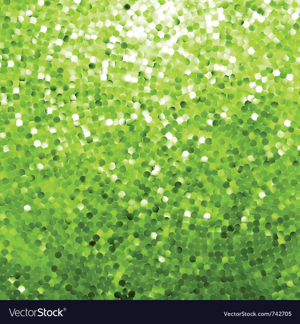 Green glittering background vector
