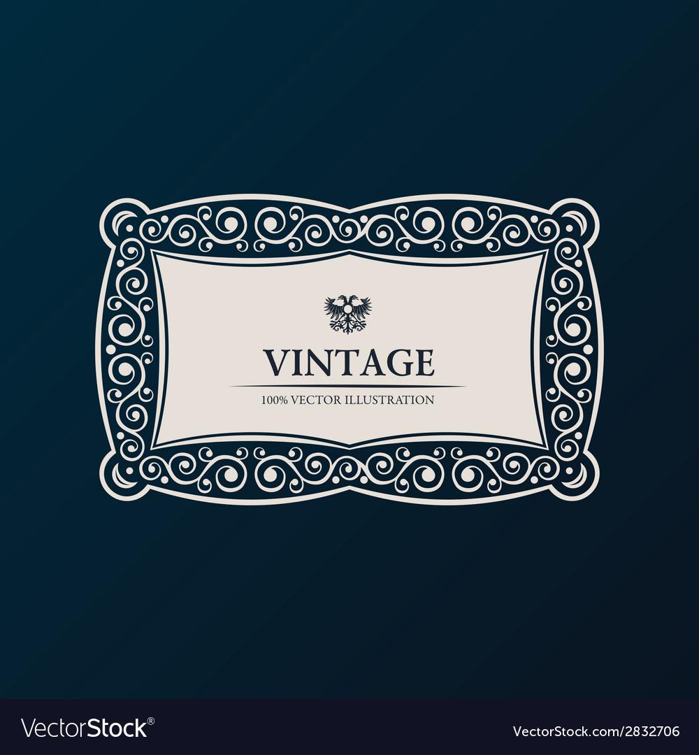 Label frame vintage banner decor vector