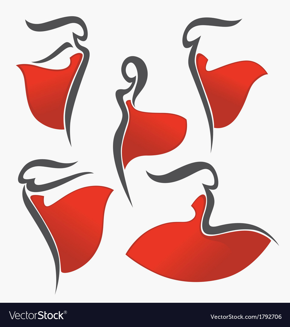 Red dresses vector