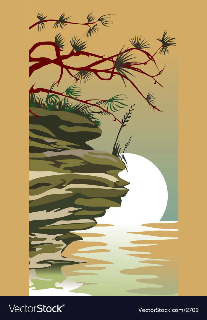 China land scape vector