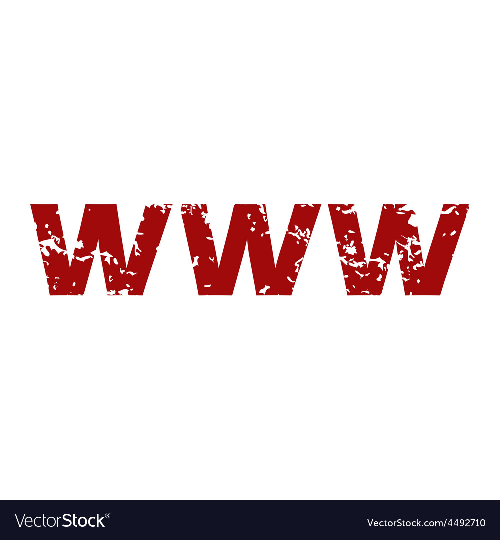 Red grunge www logo vector