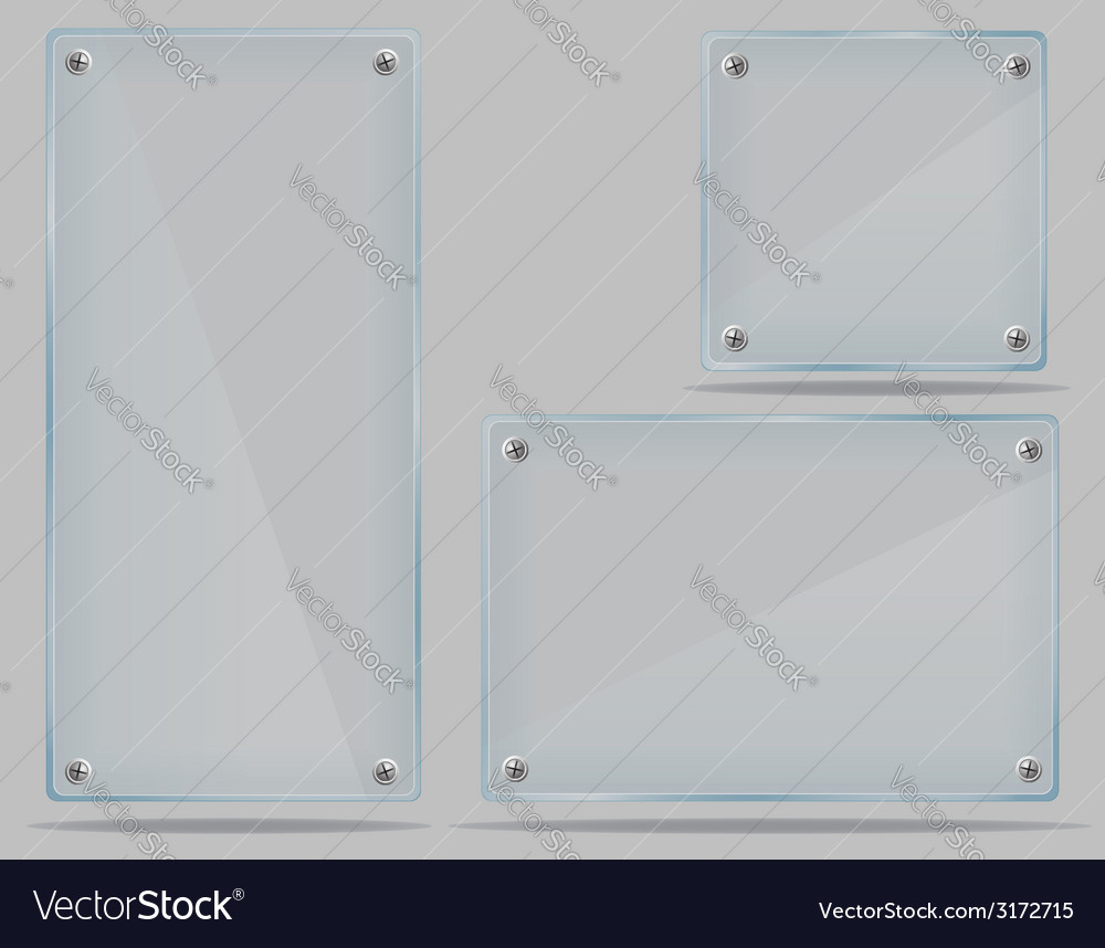 Transparent glass plate 02 vector