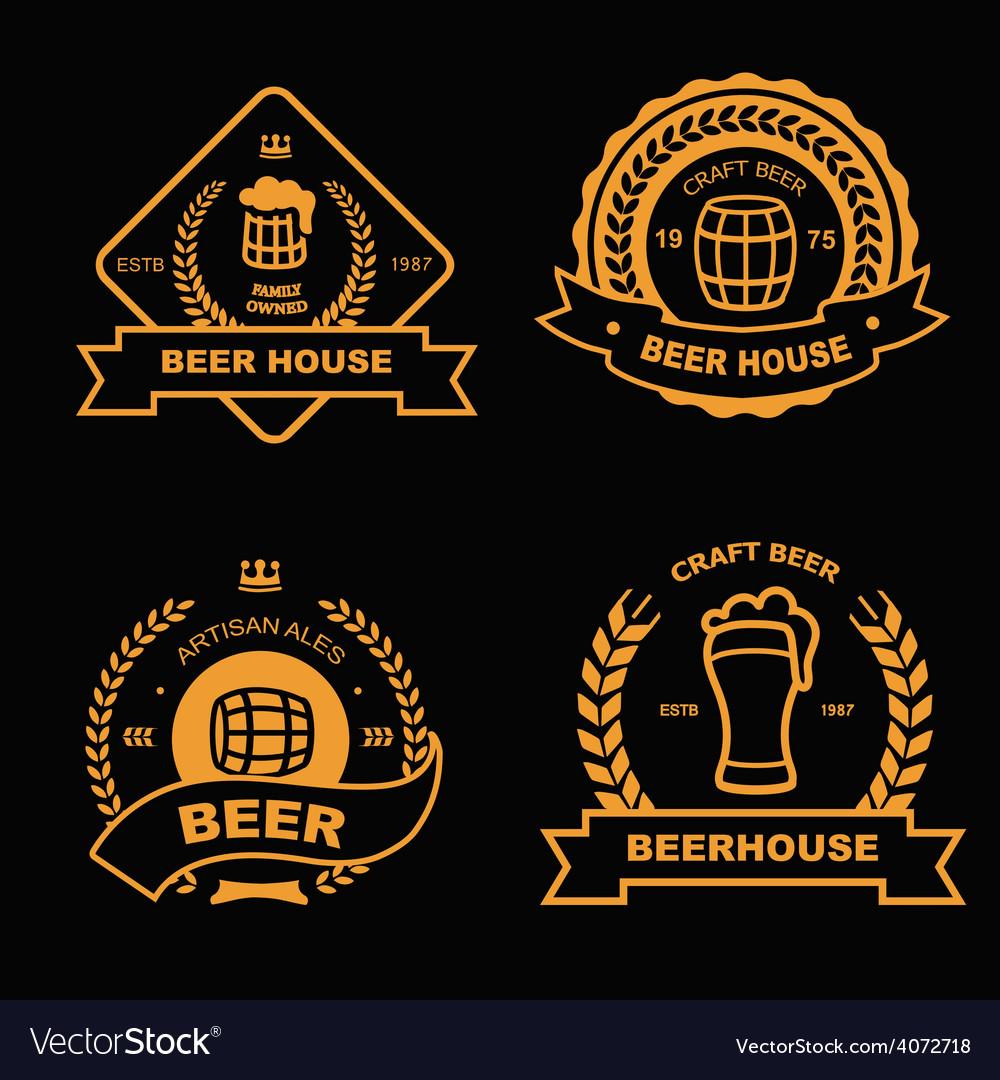 Set of vintage gold badge logo and design vector