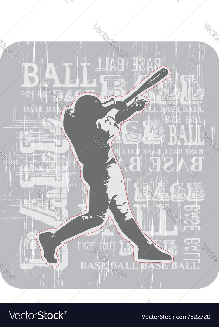 Base ball br vector