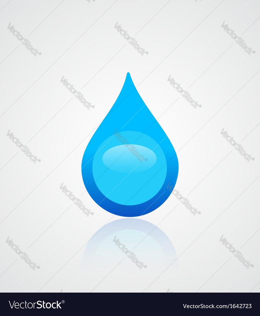Water drop emblem vector