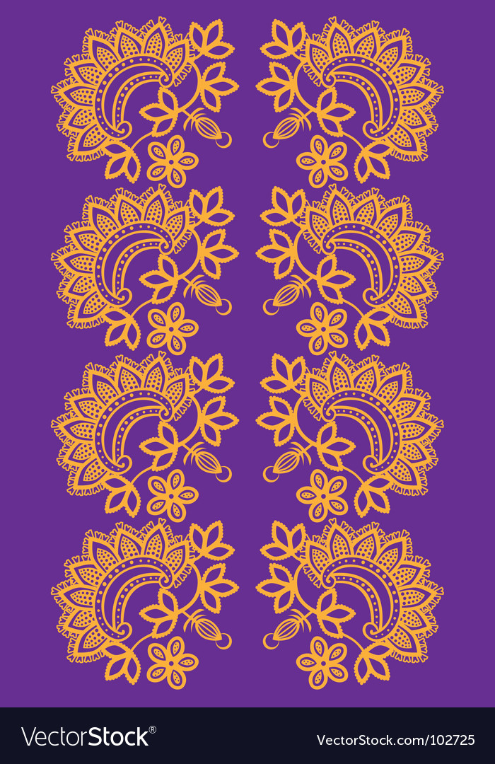 Indian floral vector