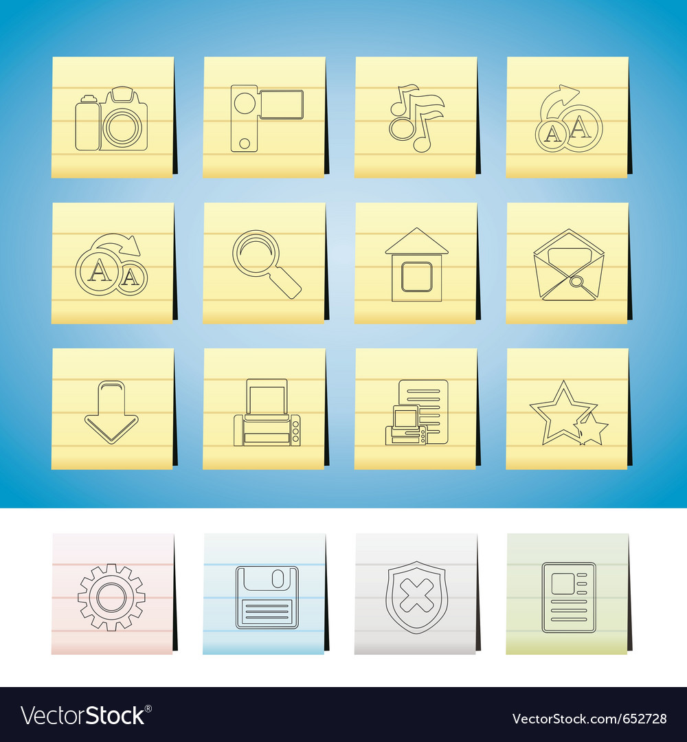 Internet and website icons vector